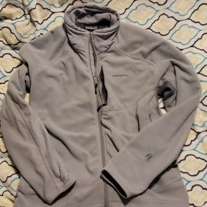 Patagonia light gray zip up sweater. Size large
